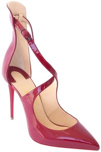 Christian Louboutin Patent Leather Marlenarock Vernis CARMIN BURGUNDY RED Pumps