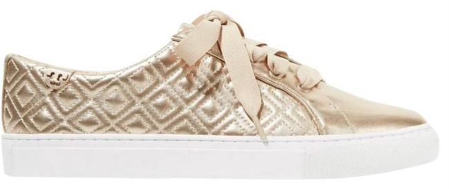 Item - Rose Gold Marion Quilted Leather Lace-up Flats Size US 8.5 Regular (M, B)