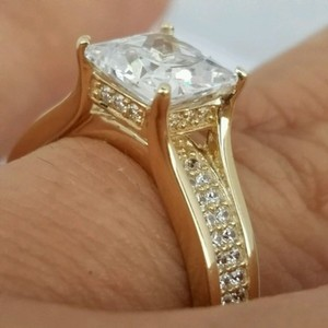 Yellow Or White Gold 14k Princess Cut Engagement Ring