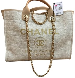 10d72d60680c Chanel New 2018 2018 Rue Cambon 2018 Tote in gold. Chanel Deauville Cambon 2018  Large ...