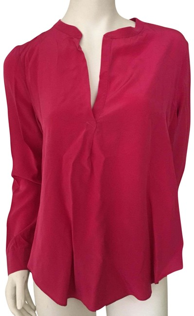 Preload https://img-static.tradesy.com/item/22493604/rory-beca-berry-pink-long-sleeve-split-neck-silk-blouse-size-12-l-0-1-650-650.jpg