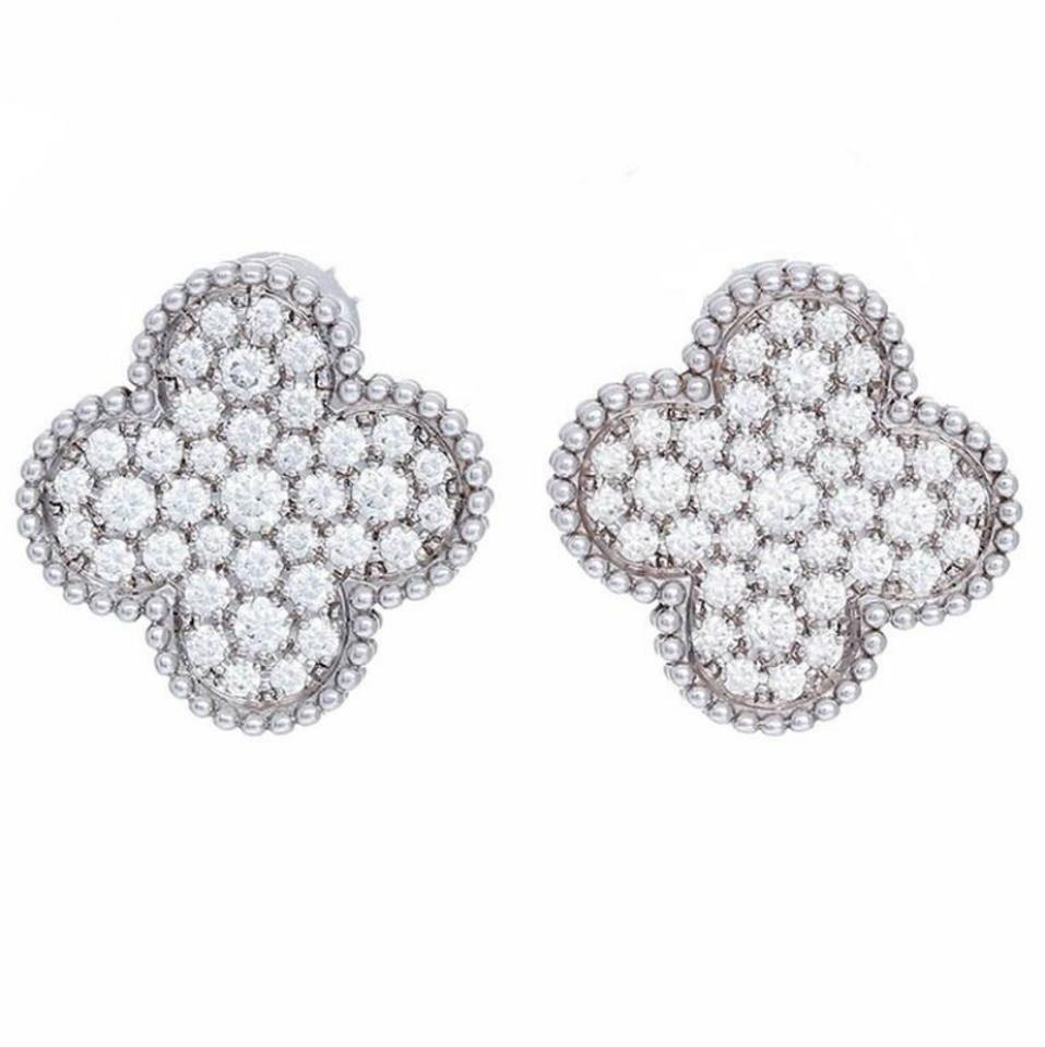 Van Cleef Arpels Magic Alhambra Earrings White Gold Diamond