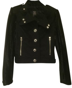 Juicy Couture Fur Sleeves Black Jacket