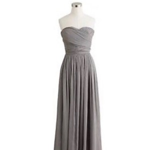 J.Crew Gray Arabelle In Chiffon Formal Bridesmaid/Mob Dress Size 6 (S)
