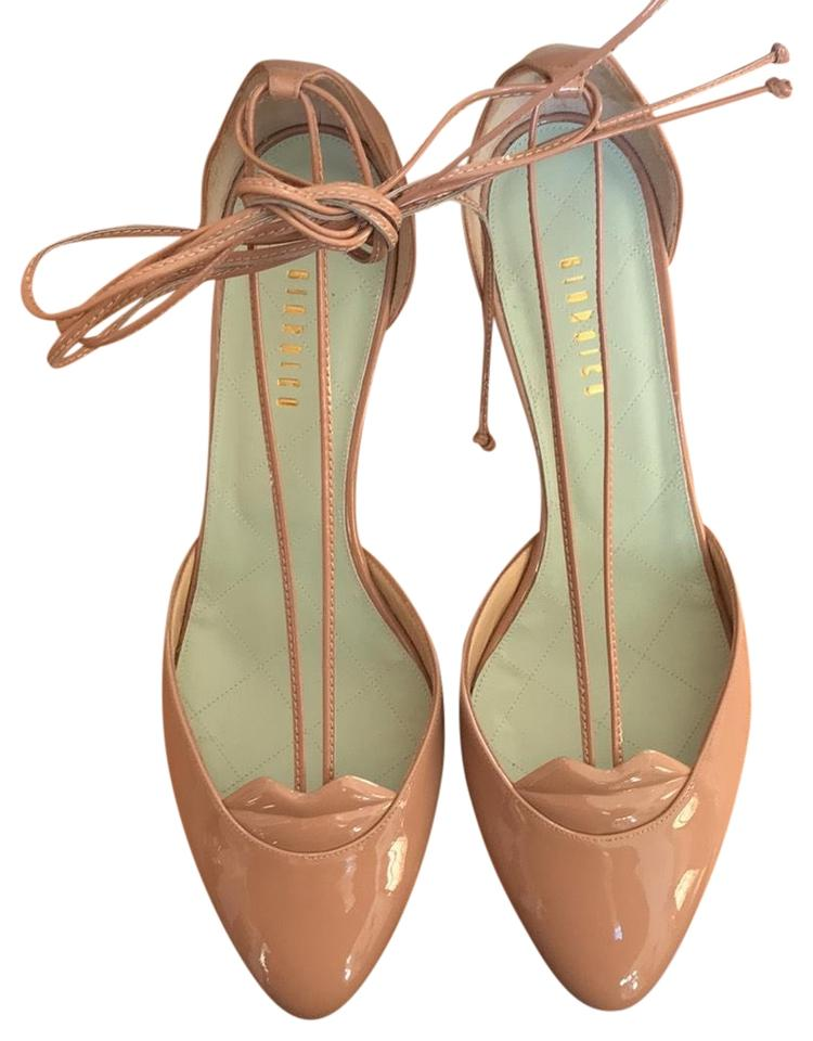 0c5553c12743 GIANNICO Pink Lips Nude String Tie Ankle Pumps. Size  EU 40 (Approx. US 10)  Regular ...