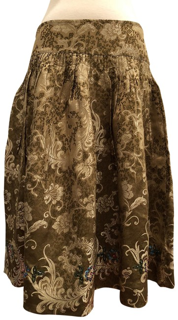 Item - Gold Snak Brand Brocade Skirt Size 6 (S, 28)