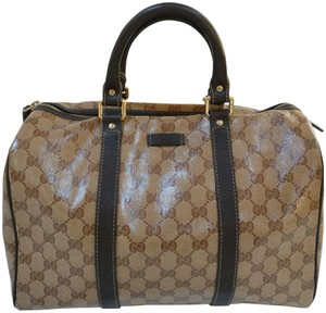 Gucci Gg Monogram Boston Satchel in brown