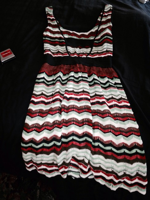 Missoni Designer Knit Sleeveless Stripes Dress