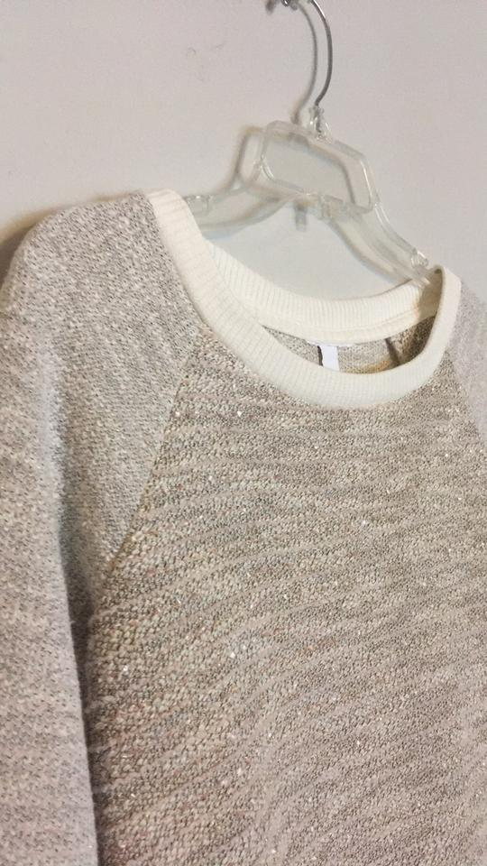 American Eagle Outfitters Cream Gold Oversized Woven Cable Knit Long