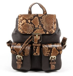 Michael Kors Susie Leather Python Backpack