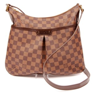 Louis Vuitton Canvas Bloomsbury Pm Classic Checkered Leather Cross Body Bag
