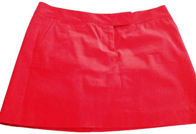 J.Crew Casual Mini Brand New Mini Casual Mini Casual Denim Mini Skirt Red