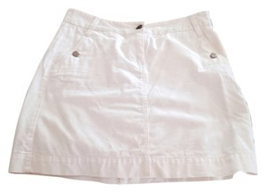 J.Crew Casual Summer Short Denim Denim Skirt White