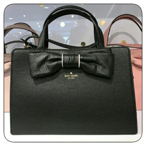 Kate Spade Lise Rosewood Rosewood Place Leather Satchel in Black