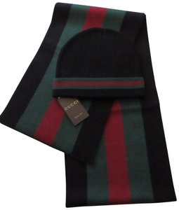 Gucci Brand new Gucci hat and scarf set Sz XL Black