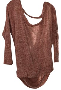 Jella Couture Open Shoulder Longsleeve Knit Casual Cotton Sweater