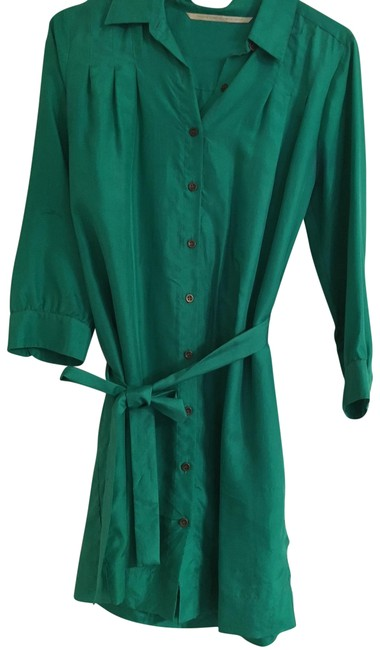 Preload https://img-static.tradesy.com/item/22495291/twelfth-st-by-cynthia-vincent-green-silk-short-workoffice-dress-size-6-s-0-3-650-650.jpg