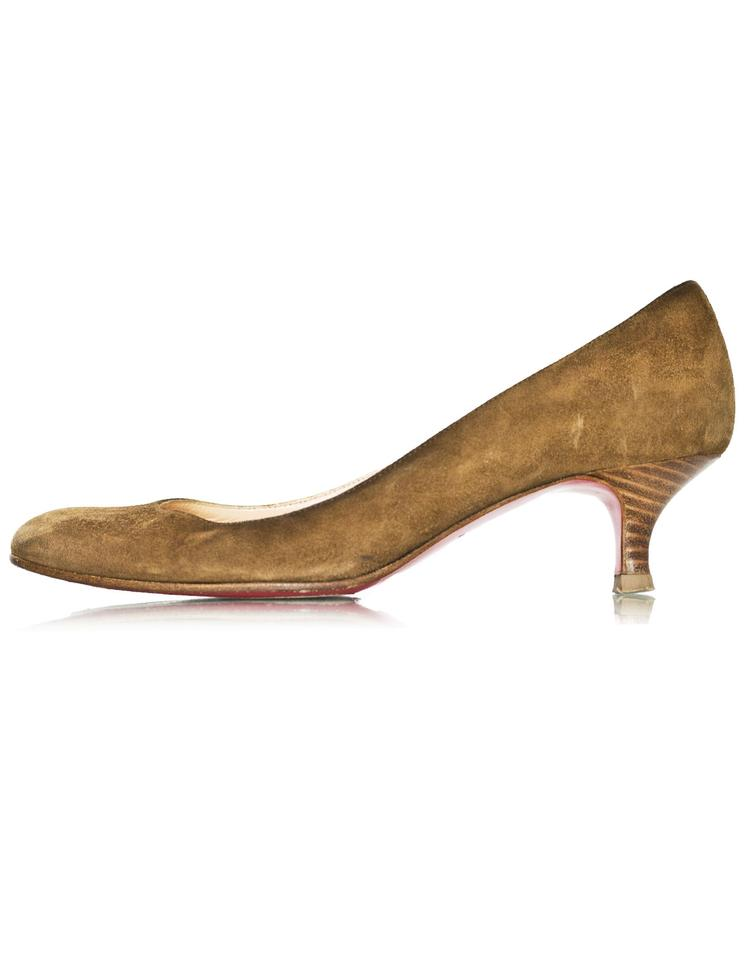 Christian Brown Louboutin Brown Christian Suede Kitten Heels Pumps 60bc91
