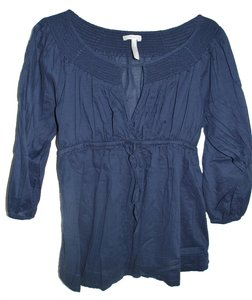 Old Navy Smocked Navy Empire Waist Maternity Tunic