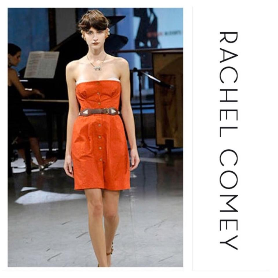 Rachel Comey Red Strapless Short Cocktail Dress Size 8 (M) - Tradesy