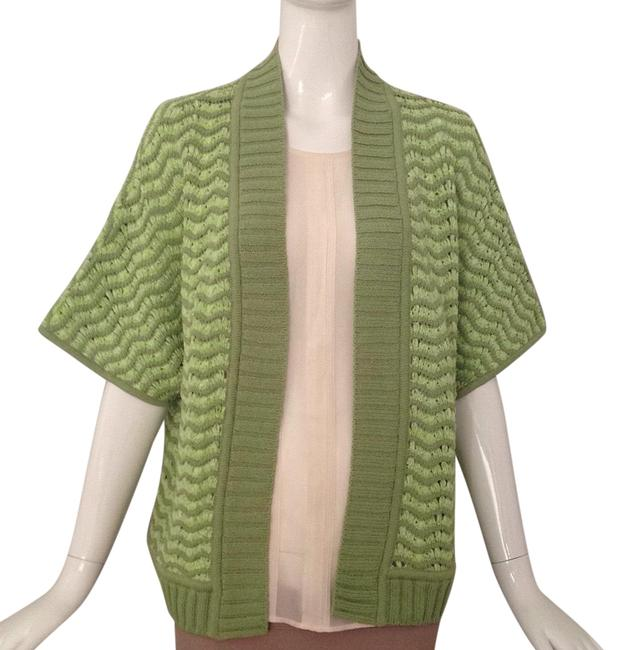 Item - Green Open Front Cardigan Size 8 (M)