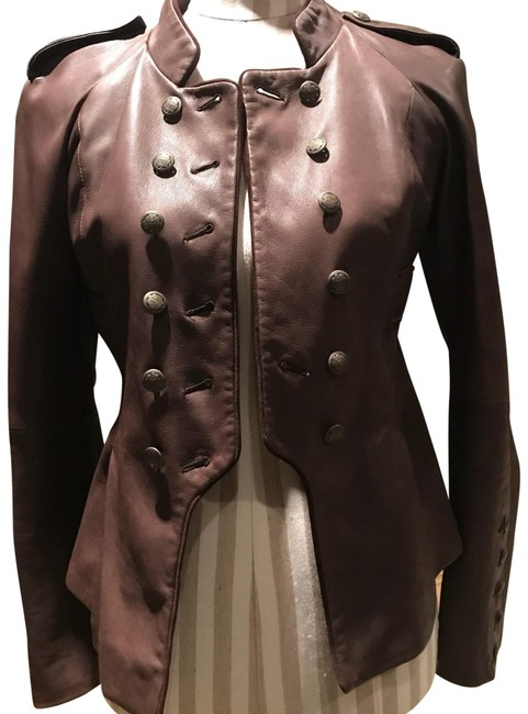Item - Soft Brown Leather Jacket Size 2 (XS)