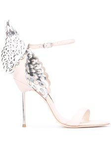 Sophia Webster Evangeline Nude Silver Pumps