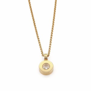 Chopard 21591 - Happy Diamond 18k Yellow Gold Round Pendant Necklace