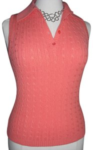 Soft Surroundings Cableknit V-neck Henley Stretchy Ribbed Sweater