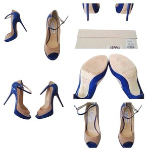 Jimmy Choo Cobalt/Tan Sandals