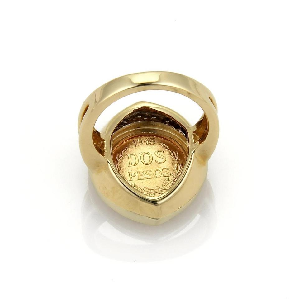 Other Diamond Mexican Gold Coin 14k Ring 12345
