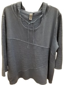Hot Cotton Longsleeve Hooded Textured Tie Sweater