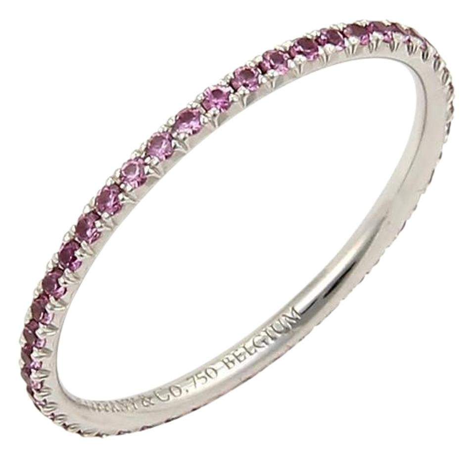 d5ad5ac06 Tiffany & Co. Metro Pink Sapphire 18k White Gold Band Ring Image 0 ...