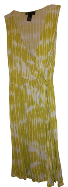 Lane Bryant short dress lime green and white on Tradesy
