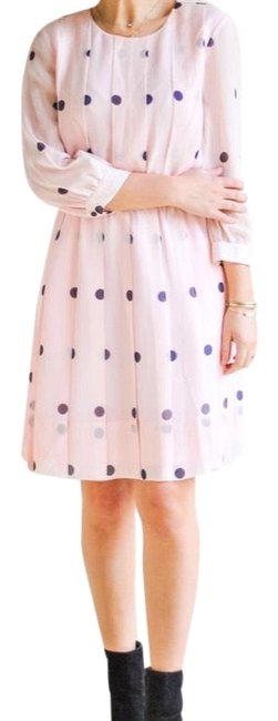 Kate Spade short dress pale pink with navy dots on Tradesy Image 1