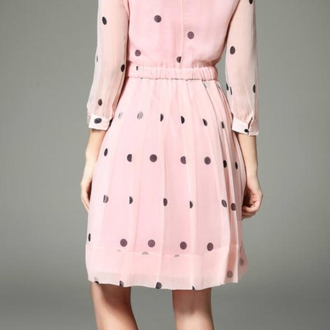 Kate Spade short dress pale pink with navy dots on Tradesy Image 2