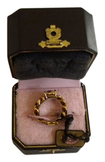 Juicy Couture New Juicy Couture gold link ring in original box