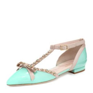 Kate Spade turquoise Flats