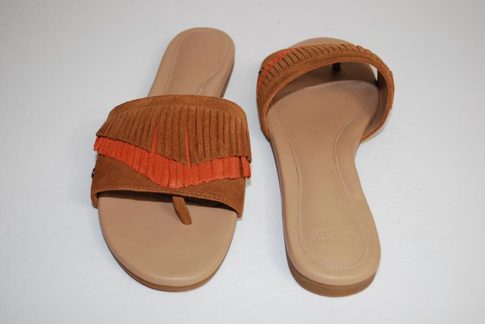 5159422272c UGG Australia Chestnut Binx Western Inspired Fringe Suede Women Slides  1015055 Sandals Size US 10 Regular (M, B) 26% off retail