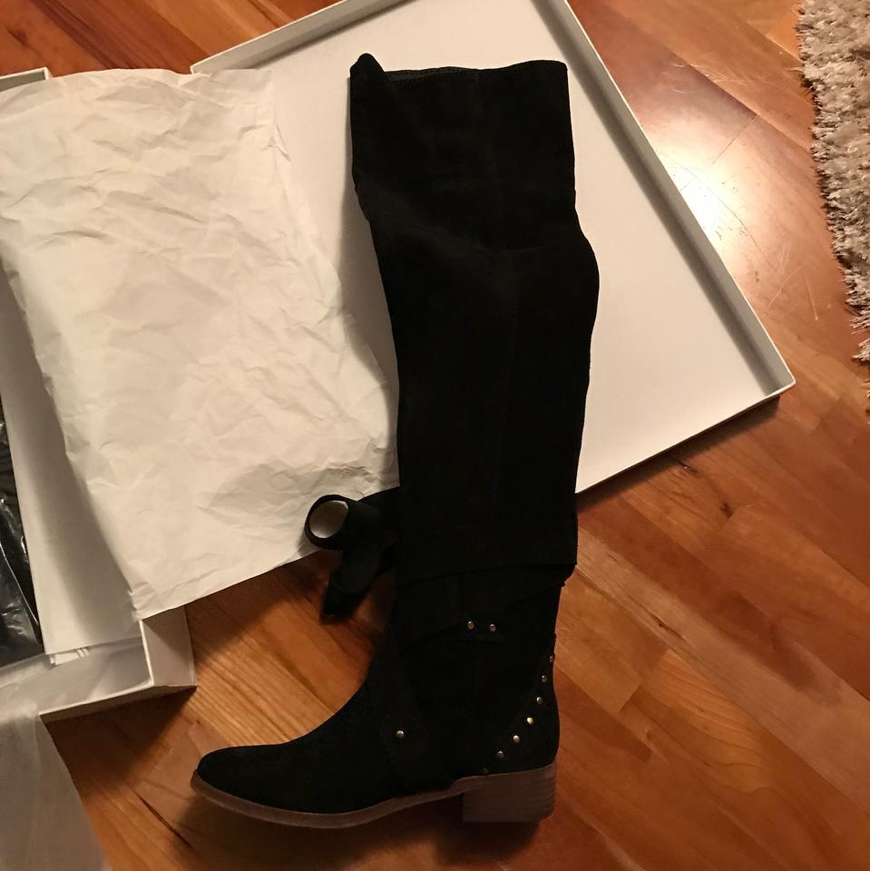 e8ffee5d38 See by Chloé Black Suede Dasha Dakar Over The Knee Boots/Booties Size US 6  Regular (M, B) 50% off retail