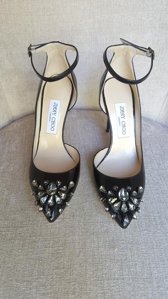 3c8daed6043 Jimmy Choo Black Lucy 100 Pumps Size EU 39.5 (Approx. US 9.5) Narrow ...