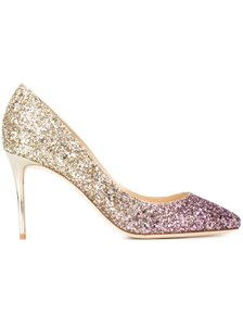 Jimmy Choo Esme Esme 85 Gold Pink Pumps