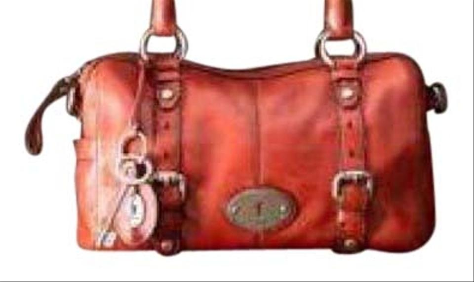 Fossil Maddox Small Satchel In Red