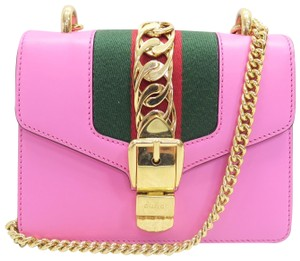 Gucci Sylvie Calfskin Shoulder Bag