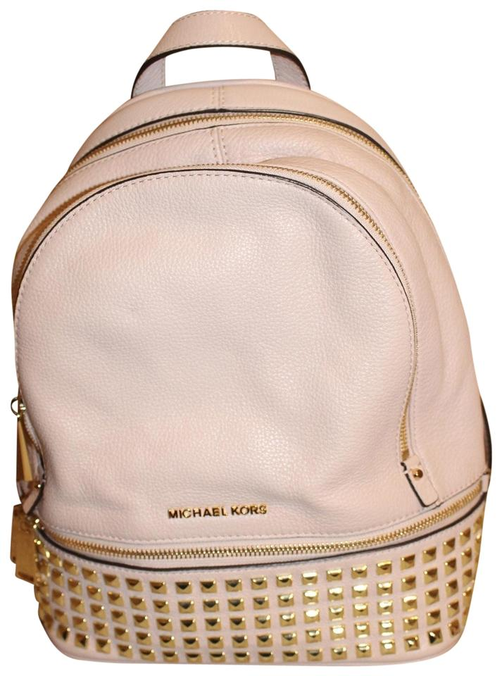 2d2a73d2f29c MICHAEL Michael Kors Rhea Studded Ballet Pink Pebbled Leather Backpack