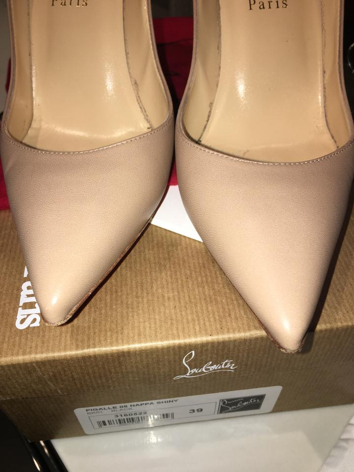 on sale 1e0fd f171e Christian Louboutin Tan Apostrophe Pointed Red Bottom Pumps Size EU 39  (Approx. US 9) Regular (M, B) 11% off retail