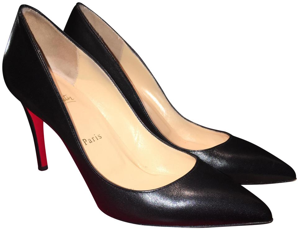 on sale d993e 4ca26 Christian Louboutin Black Pigalle 85 Nappa Shiny Pumps Size EU 39 (Approx.  US 9) Regular (M, B) 9% off retail