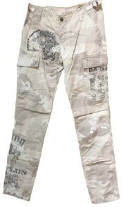 fbe98366fae7 Da-Nang Studded Straight Leg Embroidered Cargo Pants taupe beige camo
