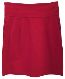 Theory Cherry High Waisted Skirt Red