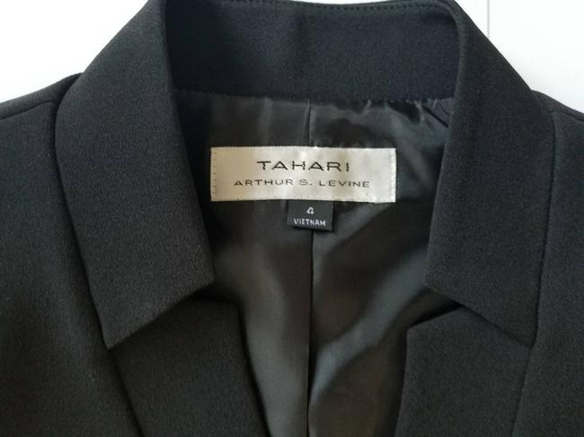Tahari Suit Separate Wear To Work Evening Classic Black Blazer